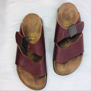 Betula Birkenstock Sandals Brown Leather